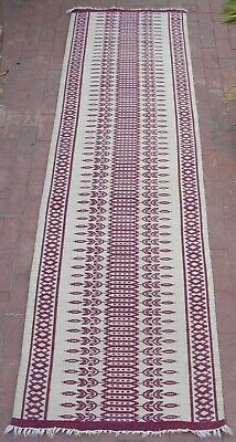 """Antique Persian Tribal Kilim Runner Carpet Rug 113"""" x 32"""" for sale  Shipping to South Africa"""