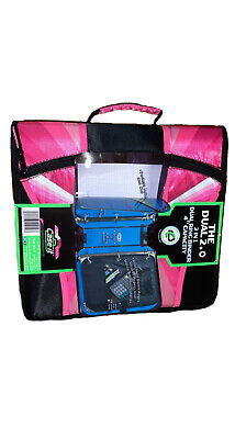 Case It Dual 2.0 Pink Dual Ring Binder 2 In 1 4 Capacity Full Zipper Handle