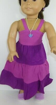 Purple Dress Canvas Shoes For American Girl Doll 18 in Clothes Accessories