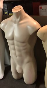1 Male Nude Display Mannequin art torso statue – gay interest?