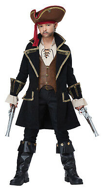 Deluxe Pirate Captain Buccaneer Child Boys Costume](Pirates Costumes For Boys)