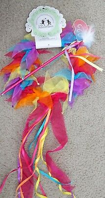 Little Adventures Fairy  Rainbow Ribbon Halo & Wand Accessory Set for Girls-READ