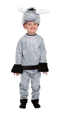 Pferd Kinder-kostüm (Kinder Kinderkostüm Pferd Esel Tier grau 92-104 Zweiteiler  NEU 2-4 Jahre)