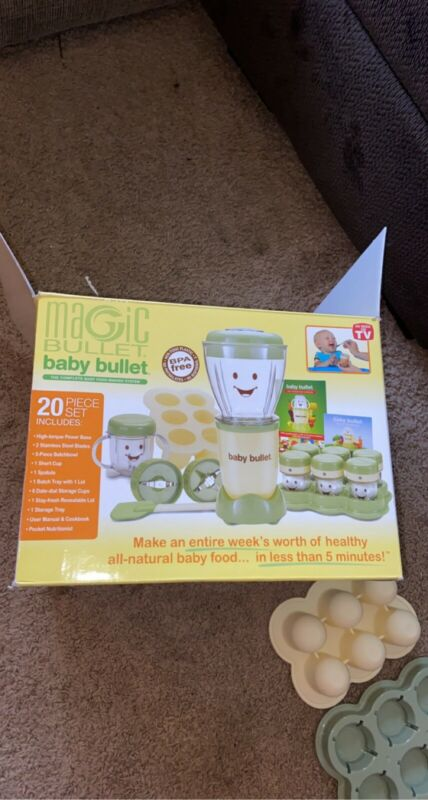 Baby Bullet Food Blender Processor System - Green TESTED WORKING GREAT