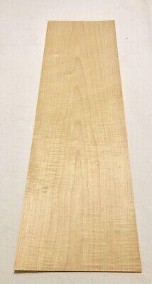"Maple Figured Wood Veneer: 3 Sheets (36"" X 10.5"") 7.5 -"