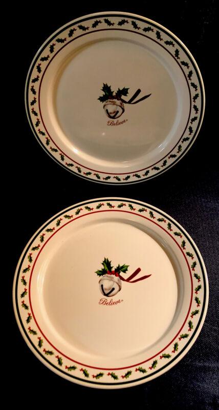 Set of 2 NWT Polar Express Celebrate Warner Bros 10 inch dinner plates