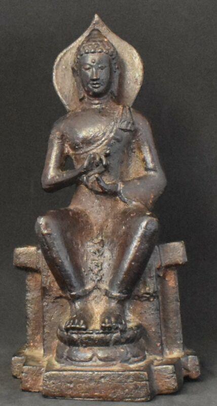 Seated Buddha bronze 6.5 inches