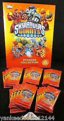 Topps Skylanders Giants Stickers Lot ~ 25 Packs, 6 Stickers/pack PLUS ONE Album - Skylander Stickers