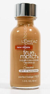 Loreal True Match Super Blendable Liquid Makeup SPF 17 #N5.5 PERFECT BEIGE 8/20