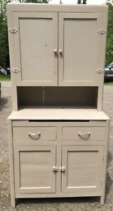 Country Farm House Step Back Kitchen Cabinet