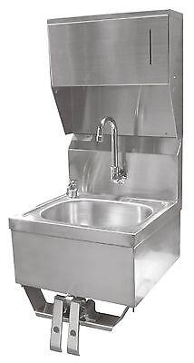 Ace Ss Hand Sink 16x15 Knee Operated Valve Towel Dispenser Etl Hs-1615kcg
