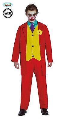 Costume Joker Mascherato Travestimento Carnevale Uomo Incognito ADULTO Nuovo