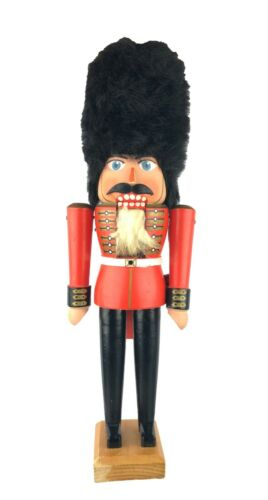 """Vintage Wooden Nutcracker English Royal Guard Soldier Beefeater West Germany 17"""""""