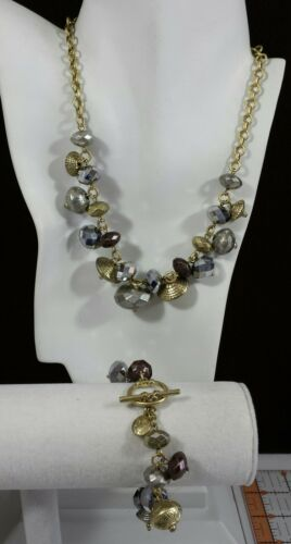 Jewelry LOT Necklace Earrings Bracelet Jones NY Gold Silver Glass Metal Bead ... - $14.99