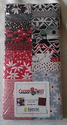 Quilt Fabric Jelly Roll Cherry Twist Kanvas Studio Strip-pies - 40 2 1/2
