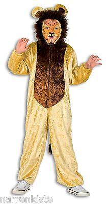 Plüsch Kostüm Löwe Tier Kinder Fell Overall Mädchen Junge Baby Kleinkinder Lion (Löwe Kostüm Mädchen)