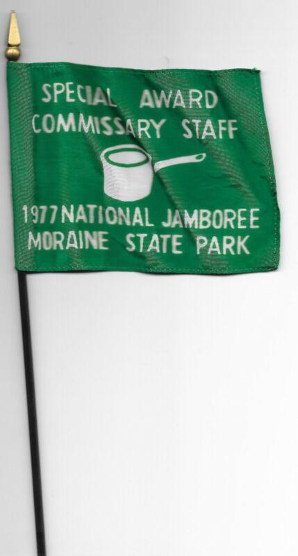 1977 National Jamboree Special Award Commissary Staff Desk Flag Boy Scouts BSA