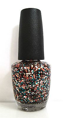 0.5 Ounce Glitter - OPI Glitter Nail Polish D15 THE LIVING DAYLIGHTS 0.5 oz/15 mL *NEW Ship next day