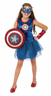 Girls American Dream Tutu Costume Captain America Super Hero Size Medium](Captain America Tutu Costume)