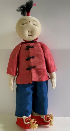 Vintage cloth Chinese doll