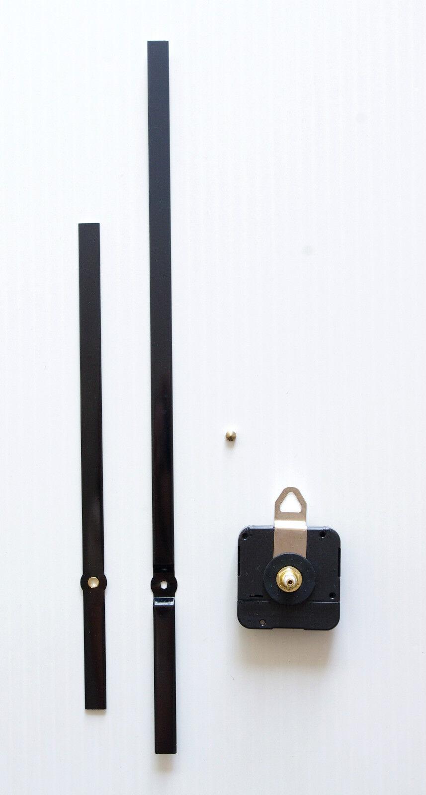 m canisme horloge quartz grandes aiguilles droites extra longues xxl 20 30cm eur 24 00. Black Bedroom Furniture Sets. Home Design Ideas