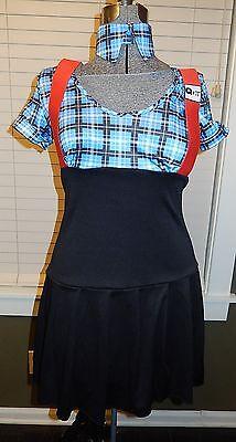 Leg Avenue Naughty Private Schoolgirl/Nerd blue plaid Adult Costume – Sz Medium](Naughty Nerd)