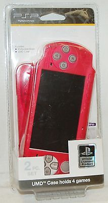Psp Umd Carrying Case - NEW Official Sony PSP Protective Glove PINK Carry Shell UMD Case RFS2 2000 3000