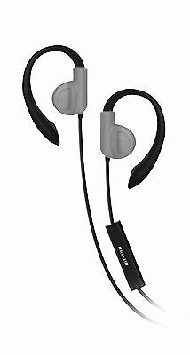 Maxell Fitness Earhook With Mic - Stereo - Silver - Wired - Earbud, Over-the-ear