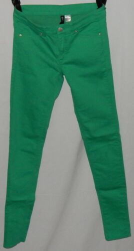 Divided Womens Jean's SZ 8 Green Low Rise Skinny Excellent Condition Super Style
