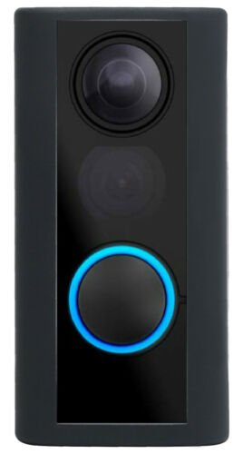 Silicone Skin Case Cover for Ring Door View Peephole Cam - Black