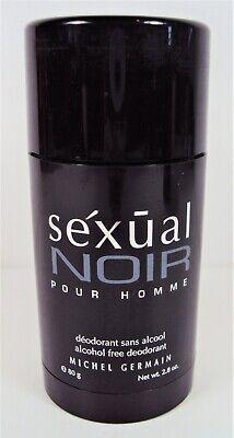 Homme Deodorant Stick Alcohol - SEXUAL NOIR pour HOMME by MICHEL GERMAIN 2.8oz/80g Alcohol Free Deodorant Stick