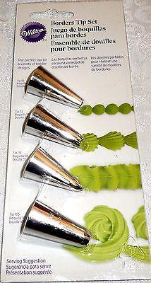 4 TIP BORDERS Wilton Cake Decorating Tip Set - #10, #32, #70 & #105