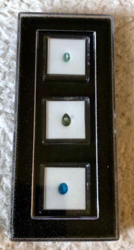 """The Apatite Gemstone Collection"" Triple Pot Tray Russian, Green & Neon Apatite"