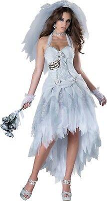 Sexy Adult Halloween InCharacter Deluxe Corpse Bride Ghost Costume w Veil (Corpse Bride Costume Adult)