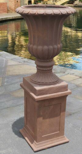 """46""""H Terra Cotta Decorative Handcrafted Vase Urn Bowl Urn on"""
