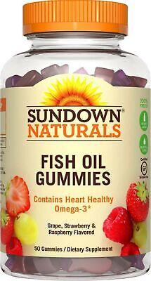 Sundown Naturals Fish Oil Omega-3 Gummies with D3, 50 ea](Gummy Fish)
