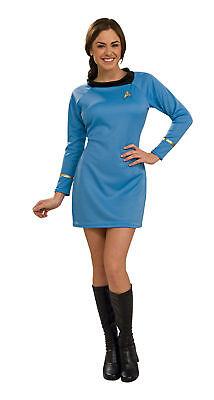 Star Trek Classic Blue Dress Adult Womens Costume Movie Theme Halloween Party - Star Trek Halloween Party