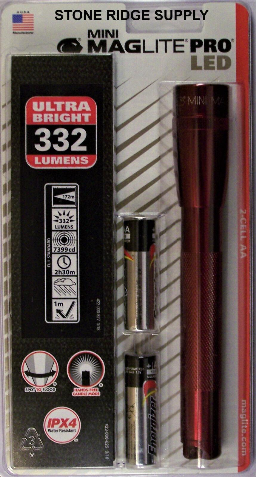 Maglite SP2P03H Mini Mag 2-Cell LED PRO Flashlight 272 Lumen