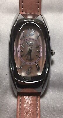 Activa Watch Pink Mother of Pearl Face Pink Faux Leather Band Water Resistant