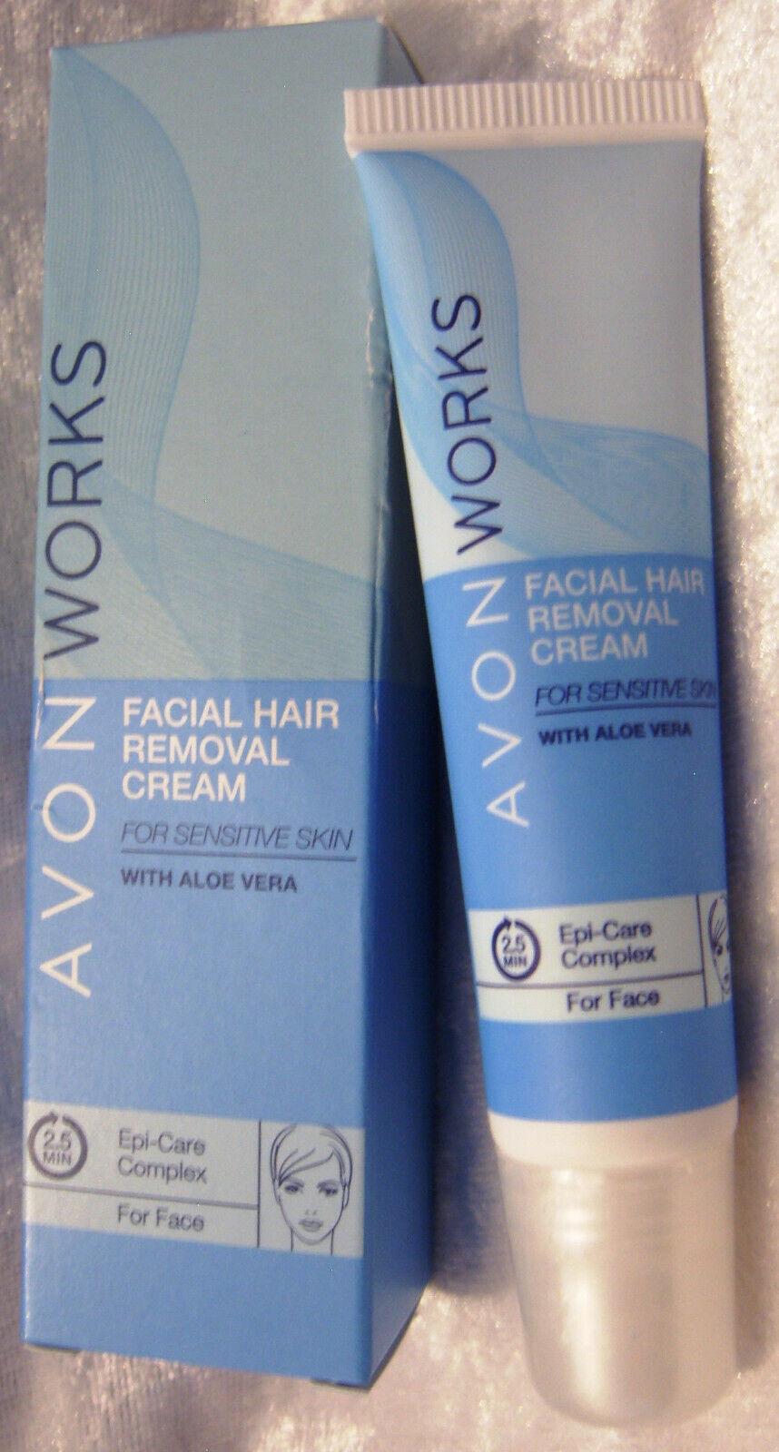 (39,93€/100ml) AVON WORKS Enthaarungscreme 15 ml fürs Gesicht mit Aloe Vera NEU