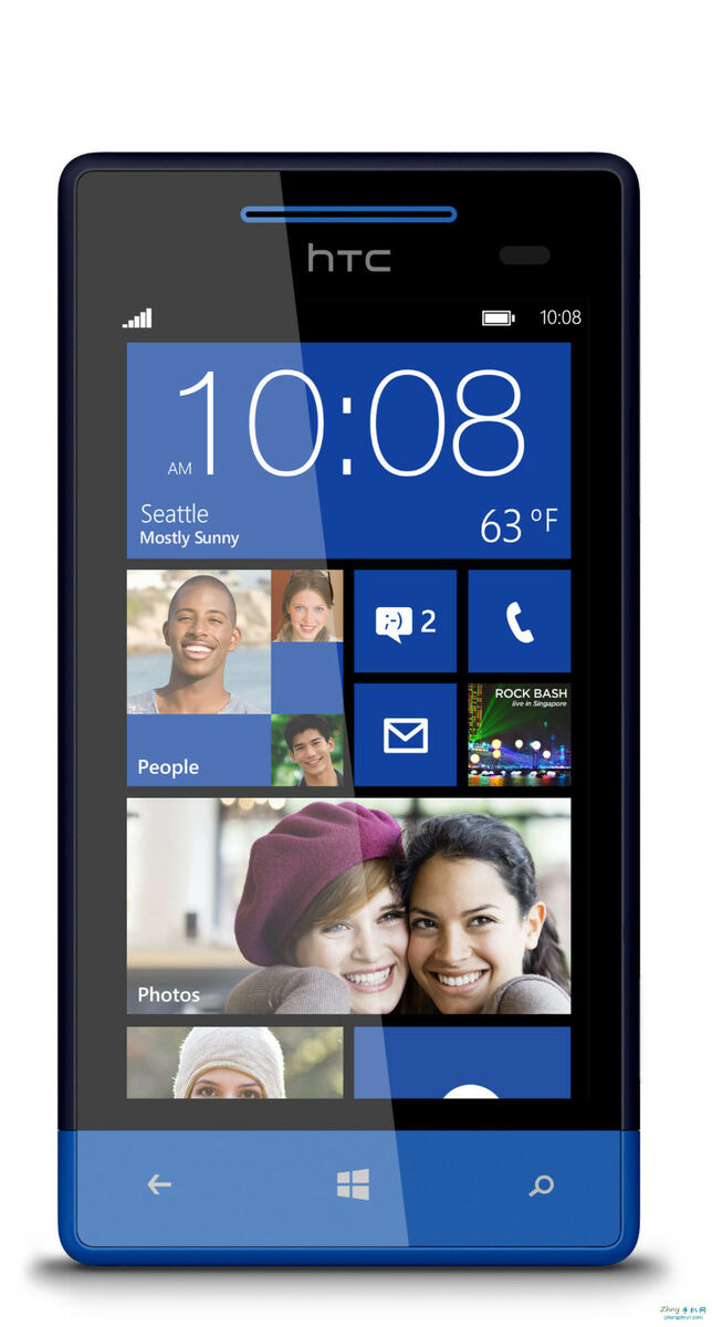 "New HTC 8x C620E 16GB Unlocked GSM Phone Windows 8 OS 4 3"" HD Display 8MP Camera"