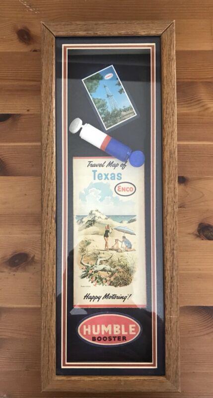 Humble Oil Company Vintage Advertising Shadow Box