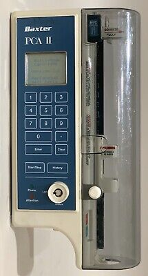 Baxter Pca-ii Pca Ii Pca 2 Syringe Pca Pump - Software Version 3.6 - Powers On