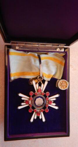 WWII Order of Sacred Treasure 3 Class Japan Medal Badge Box. RARE
