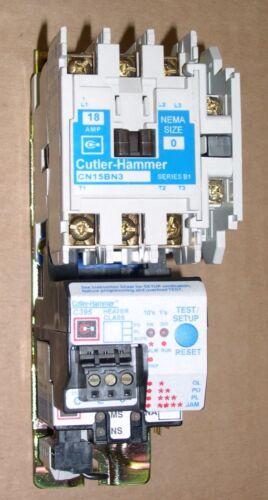 EATON CUTLER-HAMMER, MOTOR STARTER, CN15BN3 CONTACTOR PORTION , SLIGHTLY USED