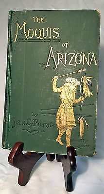 The Snake-Dance of the Moquis of AZ-John Bourke—Very Rare 1884 1st Ed.Hardback