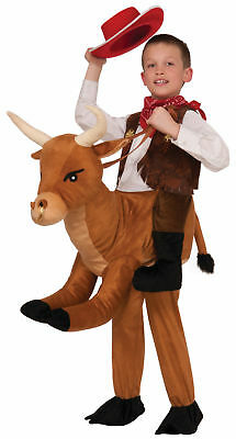 Western Ride On A Bull Child Costume Halloween Rider Rodeo Boys Girls Cowboy New - Bull Riding Halloween Costume
