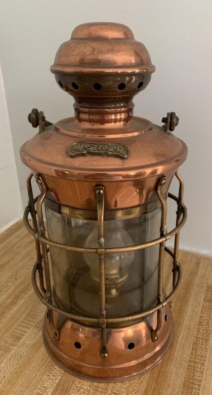 Antique Copper Masthead Lamp Light