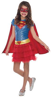 Supergirl Superheld Kinder Mädchen Kostüm Blau & Rot - Supergirl Tutu Kinder Kostüme