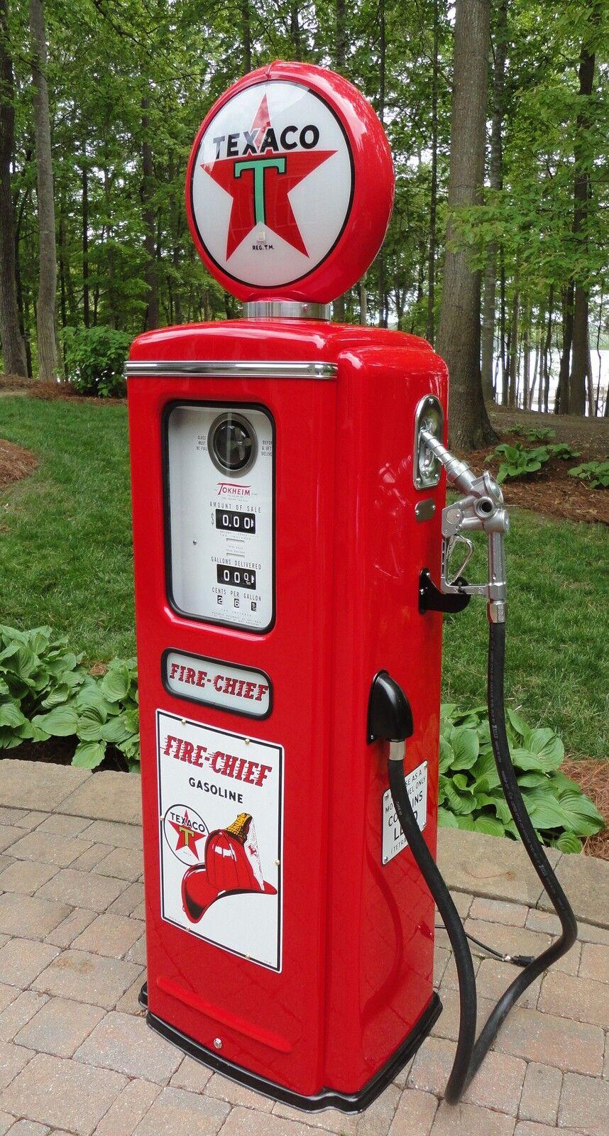 texaco fire chief model 39 tokheim full size gas pump